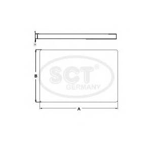 SCT SA1106 Фильтр салона VW SA1106