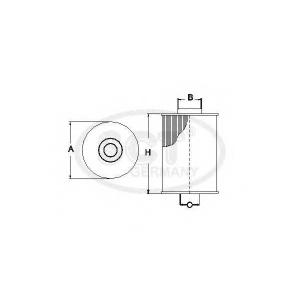 SCT SC7065P Фильтр топлива
