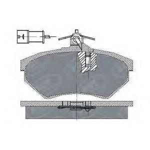 SCT SP111 Колодки тормозные