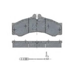 SCT SP132 Колодки торм пер зад