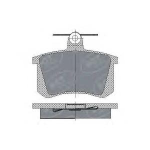 SCT SP145 Колодки тормозные ЗАДНИЕ