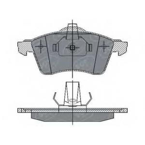 SCT SP286 Колодки торм. ПЕР