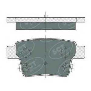 SCT SP375 Колодки торм зад Mondeo 00- 07  SP375