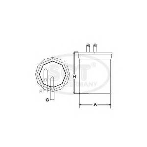 SCT ST6088 Фильтр топлива