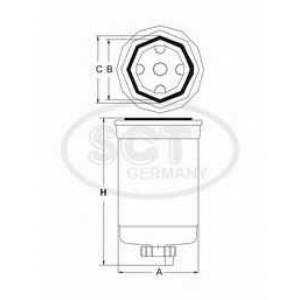 SCT GERMANY ST6110 Fuel filter