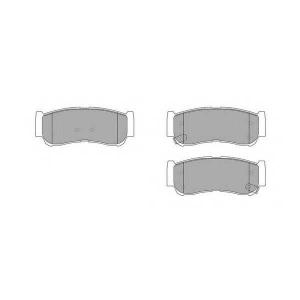 SIMER 1052 АКЦІЯ!!! Гальмівні колодки дисковi Hyundai Santa Fe 06-