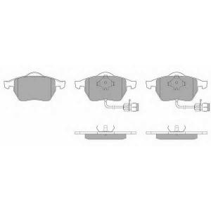 SIMER 581 АКЦІЯ!!! Гальмівні колодки дискові AUDI 100/100 Quattro/A6/A6 Quattro