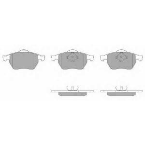 SIMER 581,2 АКЦІЯ!!! Гальмівні колодки дискові AUDI - SEAT - SKODA - VOLKSWAGEN A3/S3 Quattro/TT/TT Quattro/Tole