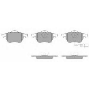 SIMER 581,7 АКЦІЯ!!! Гальмівні колодки дискові AUDI - SEAT - SKODA - VOLKSWAGEN A3/A3 Quattro/S3 Quattro/TT/TT Q