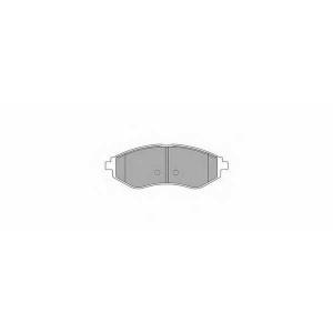 SIMER 942 АКЦІЯ!!! Гальмівні колодки дискові CHEVROLET (GM) - DAEWOO Kalos