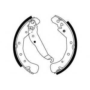 SIMER S574 АКЦІЯ!!! Гальмівні колодки барабанні OPEL - VAUXHALL Astra/Astra Classic/Astra Van/Combo (Astra)/Com
