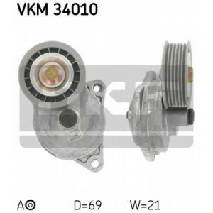 SKF VKM34010 Натягувач ременя FORD/MAZDA Cougar/Focus/Maverick/Mondeo/Tribute \1,6/2,0L \96>>