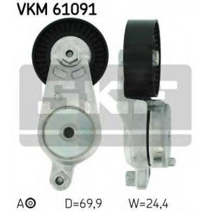 SKF VKM 61091 Натяжной ролик, поликлиновой  ремень