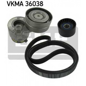 SKF VKMA 36038 Ремінь ролик комплект