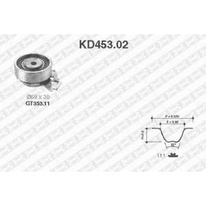 NTN-SNR KD453.02 Комплект ремня ГРМ Lanos/Aveo 1.3-1.5