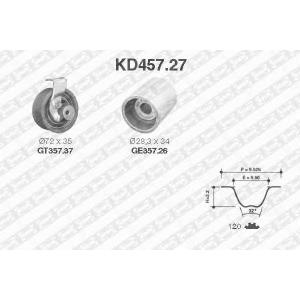 SNR KD457.27 Ремінь ролик комплект