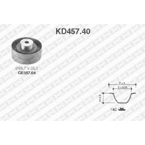 SNR kd457.40 Ремкомплект грм