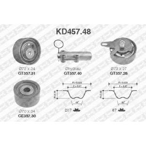 NTN SNR KD457.48 Рем. Комплект ГРМ: ремень + ролики