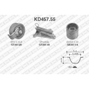 NTN-SNR KD457.55 Комплект ремня ГРМ