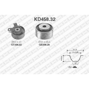 SNR KD45832 Комплект ремня ГРМ