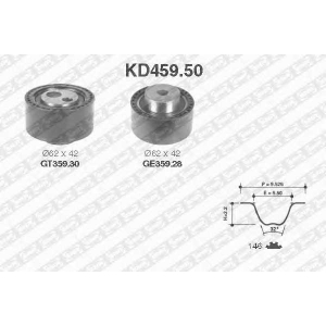 SNR KD459.50 Ремінь ролик комплект
