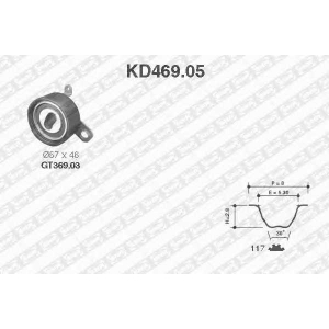 SNR KD469.05 Роликовий модуль натягувача ременя (ролик, ремінь)