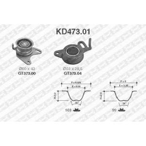 SNR KD473.01 Ремінь ролик комплект