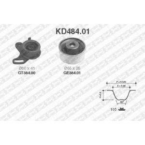 NTN SNR KD484.01 Рем. Комплект ГРМ: ремень + ролики