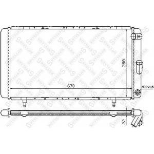 STELLOX 10-25233-sx Радиатор системы охлаждения