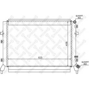 STELLOX 10-25447-sx Радиатор системы охлаждения