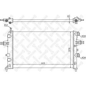 STELLOX 1026051SX 10-26051-sx_радиатор системы охлаждения! c ас\ opel astra 1.2i 98>