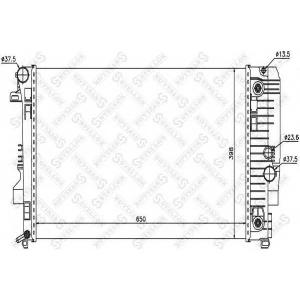 STELLOX 1026560SX 10-26560-sx_радиатор системы охлаждения! акпп\ mb w639 viano/vito 03>