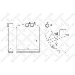 STELLOX 1035122SX 10-35122-sx_радиатор печки!\ opel signum/vectra all 02>