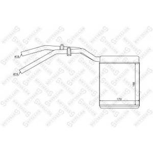 STELLOX 10-35137-SX Радиатор печки