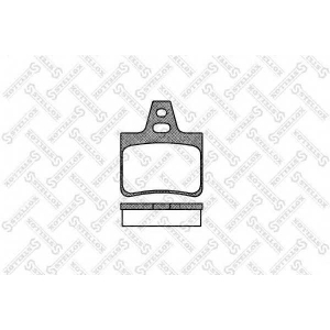STELLOX 322 000-SX Комплект тормозных колодок, дисковый тормоз Ситроен Cx