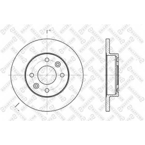 STELLOX 6020-3908-SX Тормозной диск Дача 1310