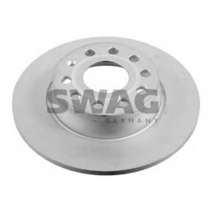 Тормозной диск 30936128 swag - SEAT LEON (1P1) Наклонная задняя часть 1.6 TDI