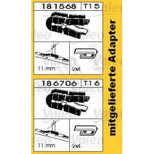 Щетка стеклоочистителя 116191 swf - PORSCHE BOXSTER (986) кабрио 2.5