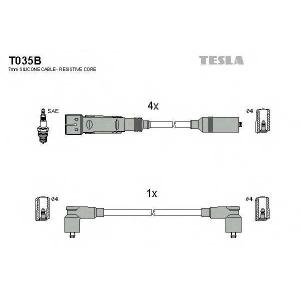 TESLA T035B Кабель зажигания, к-кт TESLA WAG 84-92 1,6;1,8;2,0|SAE соединнение свечи