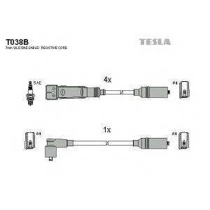 TESLA T038B Кабель зажигания, к-кт TESLA Audi 80 83-96 1,6;1,8,2,0