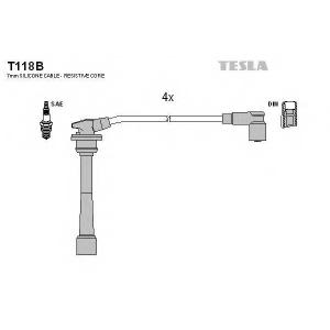 TESLA T118B Кабель зажигания, к-кт TESLA HY Accent 95-02 1,4-1,6