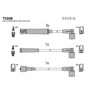 TESLA T269B Кабель зажигания, к-кт TESLA Opel Ascona 91-99 1,4