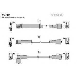 TESLA T271B Кабель зажигания, к-кт TESLA Opel Calibra,Vectra, Kadet 88-95 1,8;2,0
