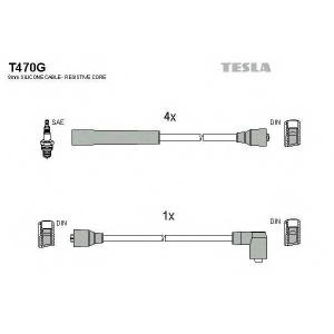 TESLA T470G Кабель зажигания, к-кт TESLA Ford Sierra 82-93 1,3;1,6;1,8;2,0