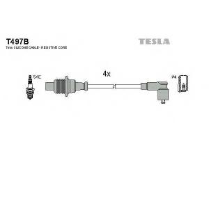 TESLA T497B Кабель зажигания, к-кт TESLA Citroen, Peugeot 87- 1,6;1,8;1,9;2,0