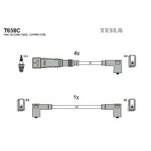 TESLA T658C Кабель зажигания, к-кт TESLA Seat Cordoba 1.6i 09.96 -06.99 55 ALM/AEE;VW Polo1.4 08.95 - 10.99 AEX
