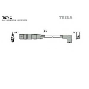 TESLA T674C Кабель зажигания, к-кт TESLA VAG 95- 1,6;2,0