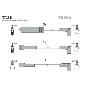 TESLA T736B Кабель зажигания, к-кт TESLA Daewoo Nexia 1,5 95-97