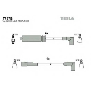 TESLA T737B Кабель зажигания, к-кт TESLA Daewoo Espero 91-98 1,8;2,0, аналог TES T698B