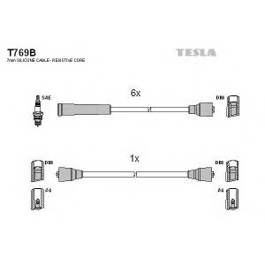TESLA T769B Кабель зажигания, к-кт TESLA Opel 79-90 2,5;2,8;3,0